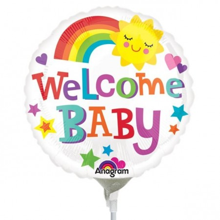 "Folie ballong  ""welcome baby"""