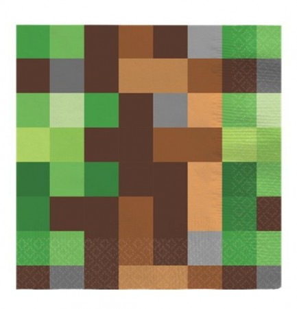 Servietter- Minecraft Bursdag